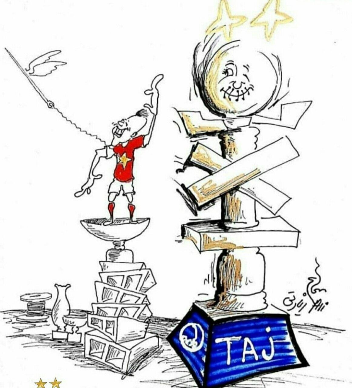 تمسخر کاپ قهرمانی های پرسپولیس با یک کاریکاتور جنجالی + عکس