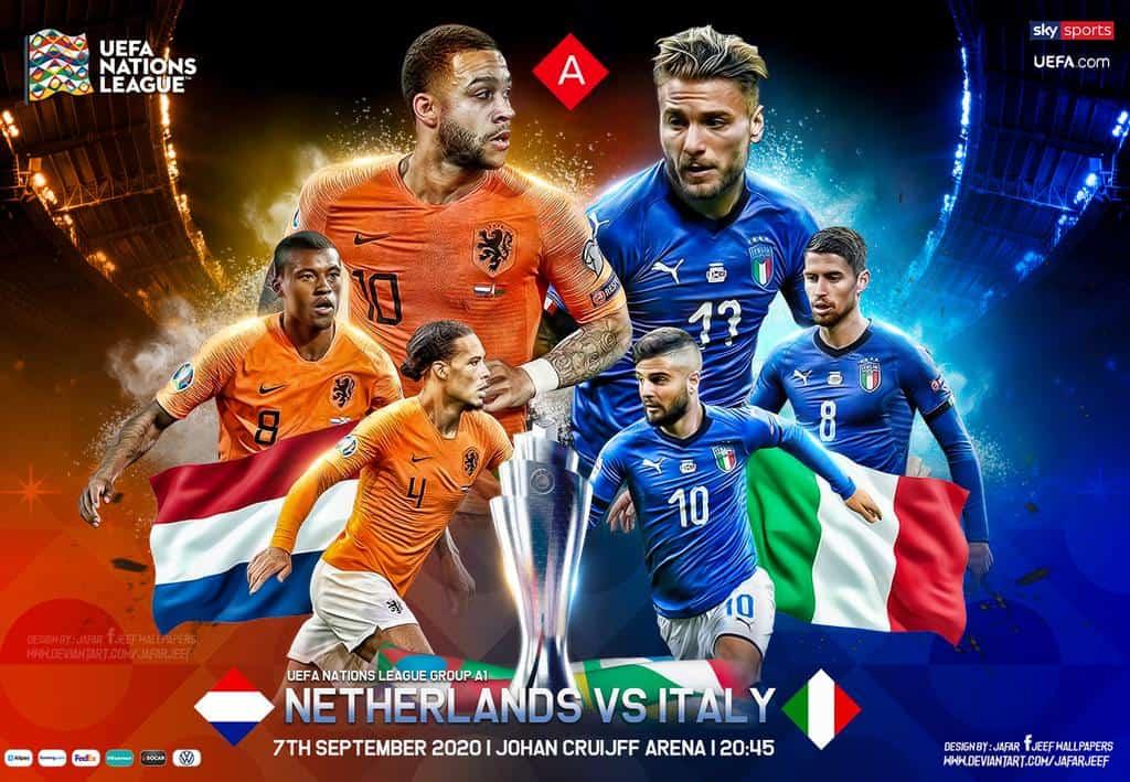 پخش زنده بازی هلند و ایتالیا امشب | لیگ ملتهای اروپا 2020