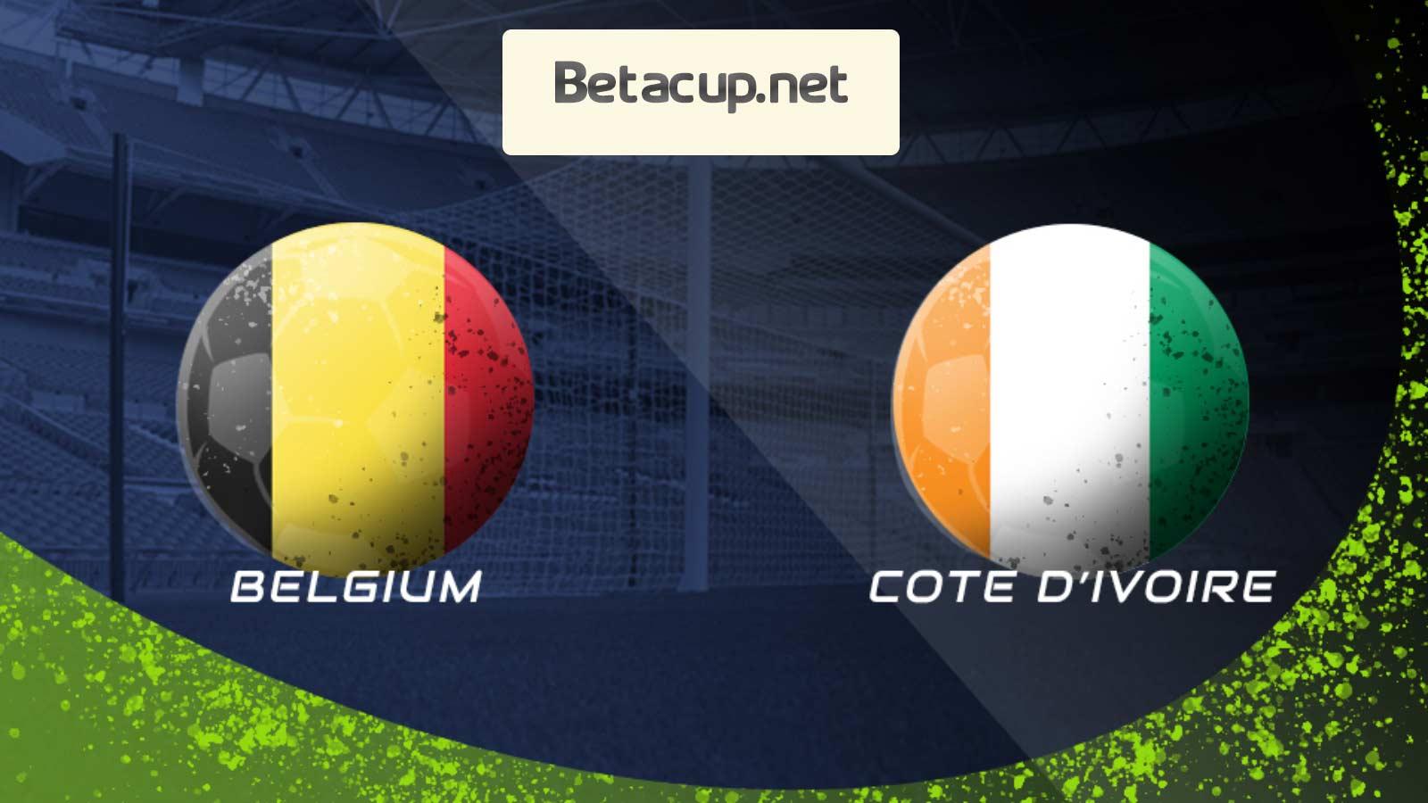 پخش زنده بازی جذاب بلژیک و ساحل عاج