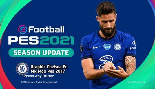 Graphic Menu Chelsea PES 2021 For PES 2017