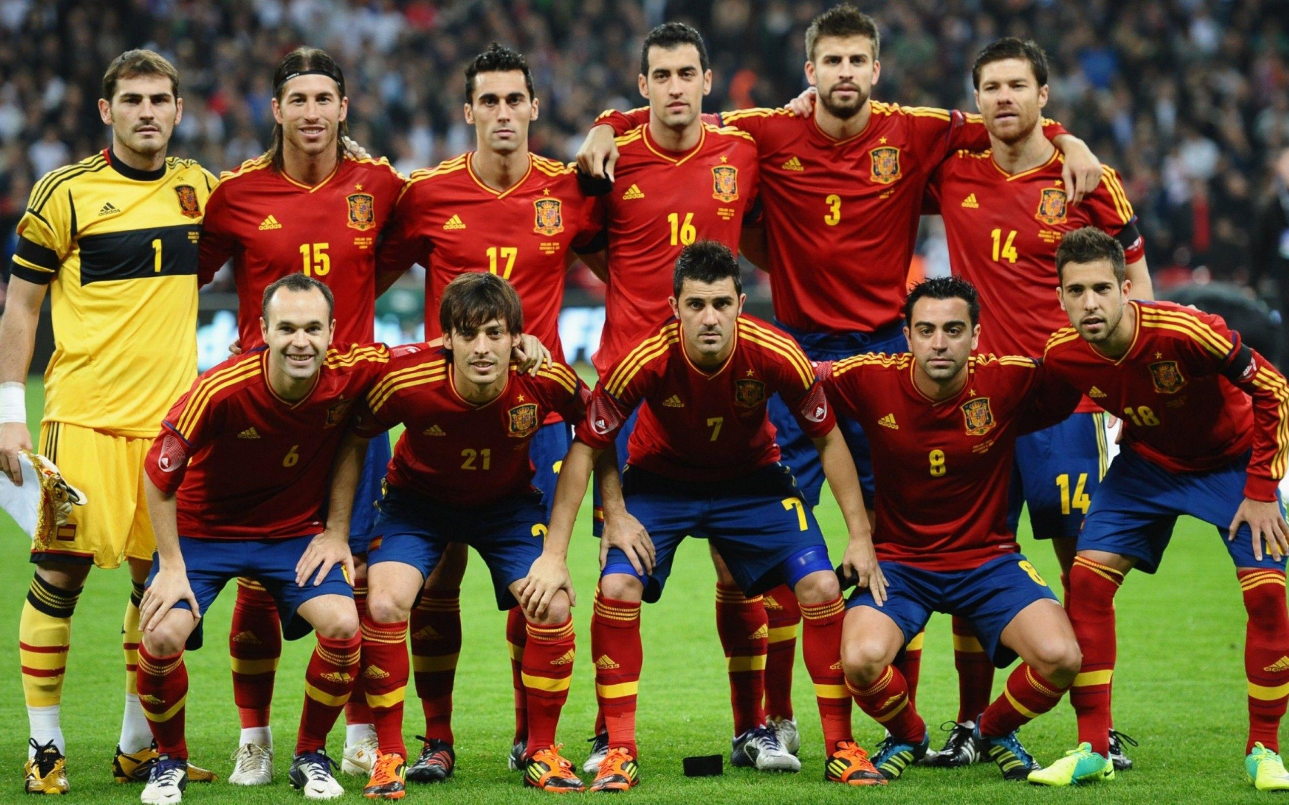 لیست اسامی بازیکنان تیم ملی اسپانیا برای بازی مقابل پرتغال