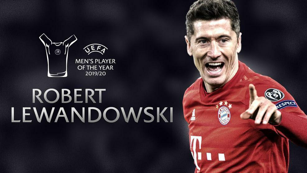 رابرت لواندوفسکی برنده جایزه بهترین بازیکن یوفا 2020