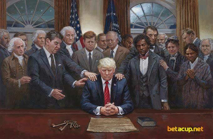 عکس جنجالی از ترامپ در آستانه ریاست جمهوری بایدن در آمریکا