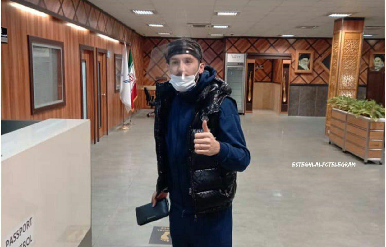 هرویه میلیچ با شیلد وارد ایران شد + عکس