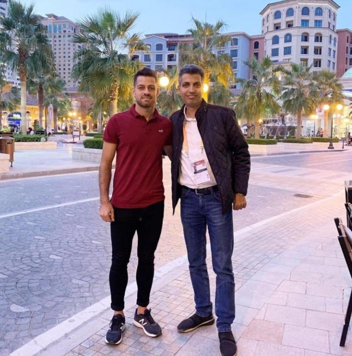 دیدار عادل فردوسی پور و مرتضی پورعلی گنجی در قطر + عکس