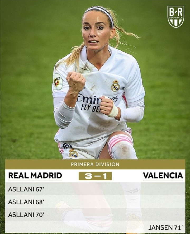 هت تریک عجیب کوسواره اصلانی بازیکن تیم زنان رئال مادرید