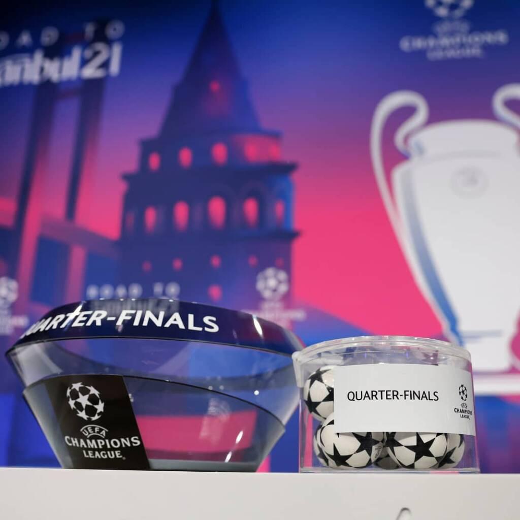 پخش زنده قرعه کشی یک چهارم نهایی لیگ قهرمانان اروپا 2021