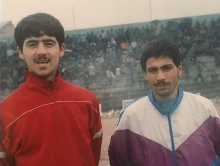 عکس زیرخاکی از علیرضا اکبرپور و کریم باقری 18 ساله