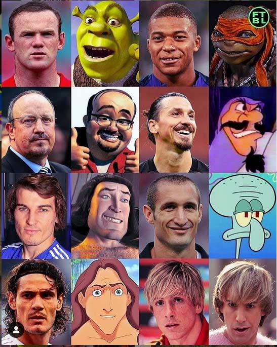 عکس کارتونی فوتبالیستها