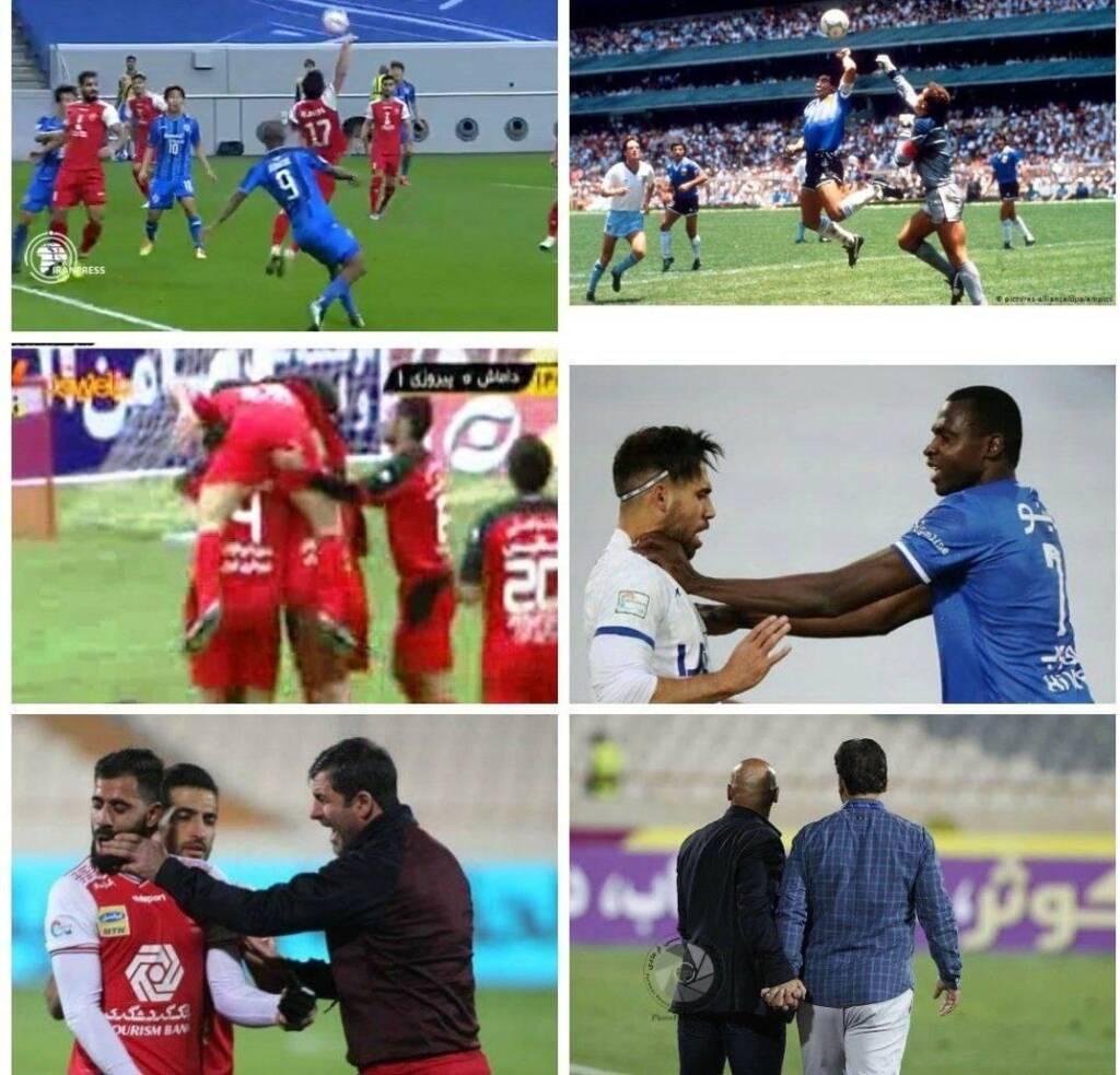 دست های معروف فوتبال جهان و ایران | از مارادونا تا دست بی قرار شیخ