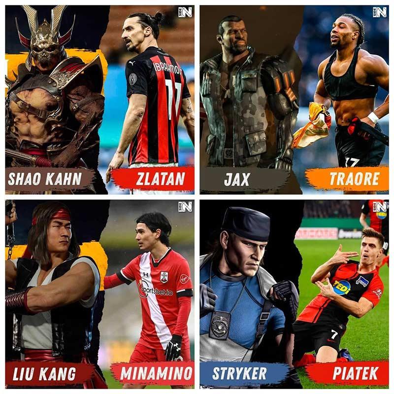 عکس های جذاب از بازیکنان مشهور فوتبال در بازی جدید Mortal kombat