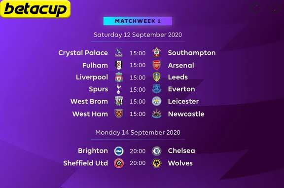 برنامه بازی های لیگ برتر انگلیس 2021/2022