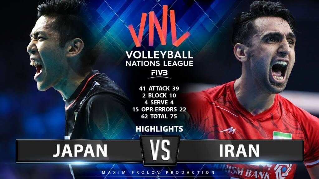 پخش زنده بازی ایران و ژاپن در لیگ ملتهای والیبال 2021