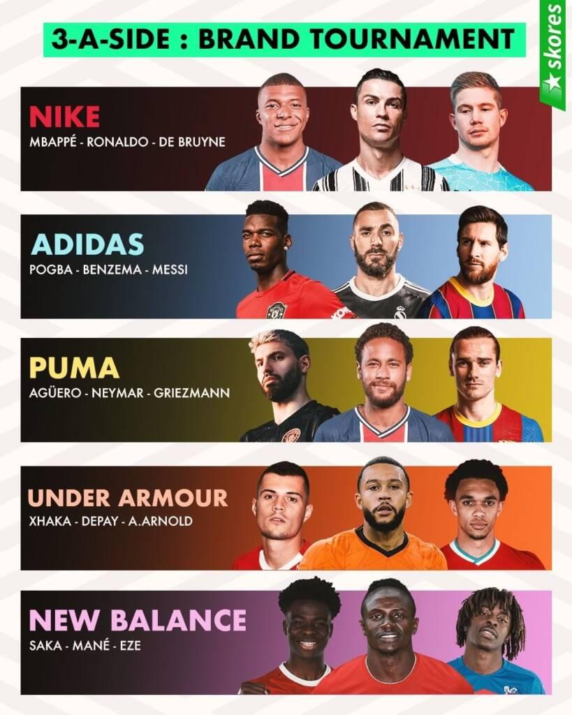 فوتبالیستهای معروف از چه برندی استفاده می کنند؟