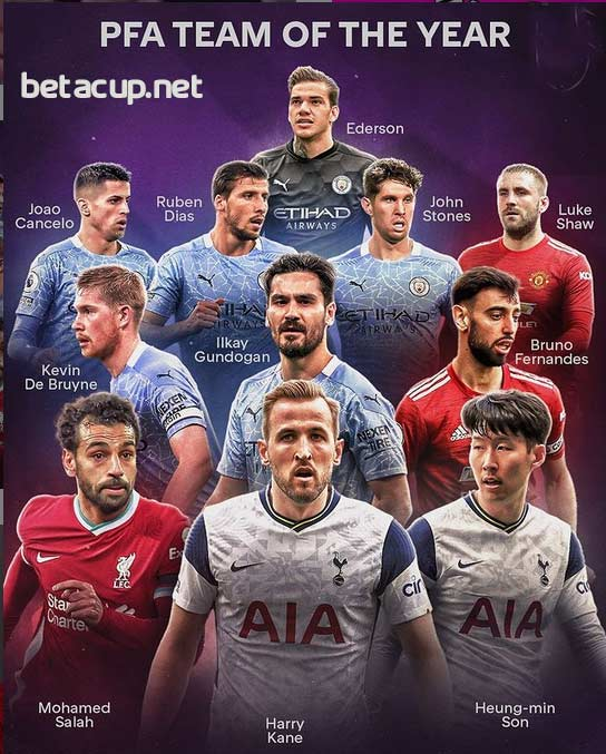 تیم منتخب فصل لیگ برتر انگلیس 2021 + شماتیک