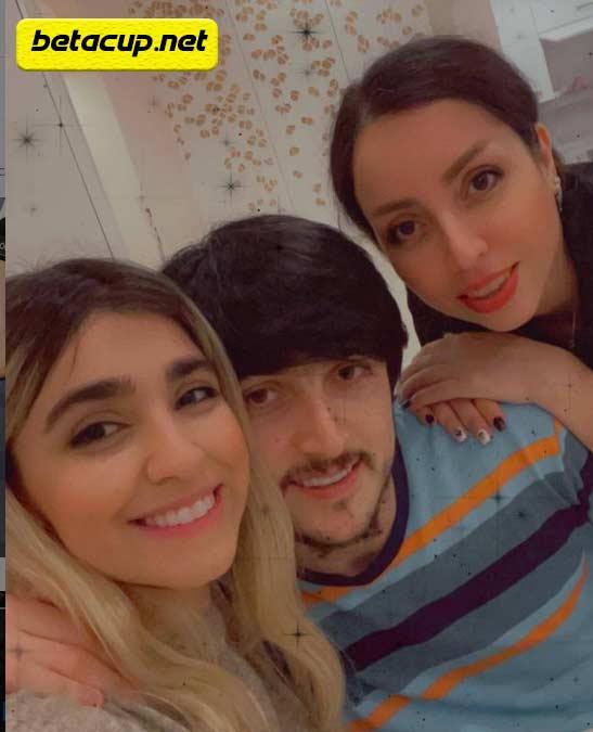 عکس سردا آزمون به همراه خواهر و نامزدش
