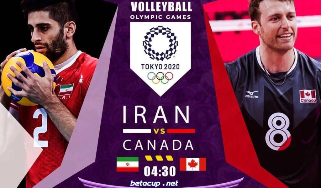 پخش زنده والیبال ایران و کانادا | المپیک 2020