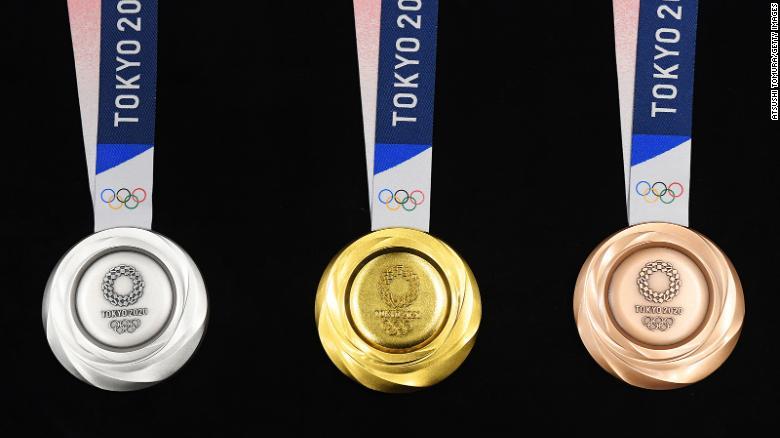 میزان طلای به کار رفته در هر مدال