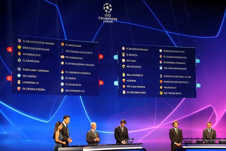 جدول گروه های لیگ قهرمانان اروپا 2021/2022