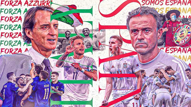 پخش زنده بازی ایتالیا و اسپانیا امشب